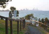 Burleigh Heads National Park View To Surfers Paradise